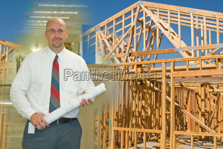 architect, and, construction, montage - 1340071