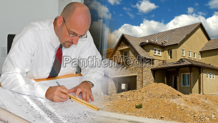 architect, and, construction, montage - 1340083