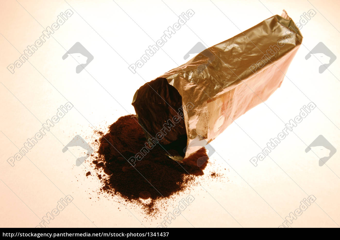 ground, coffee, spilling, from, packet, , elevated - 1341437