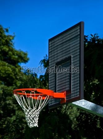 basketball going on the basket