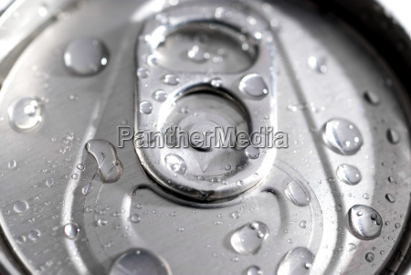 macro of a can of soda