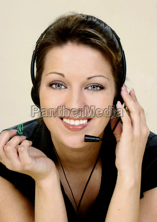 girl, with, headset - 1344767