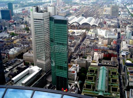 skycraper frankfort sight view outlook perspective