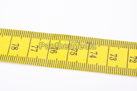 a yellow measuring tape on a