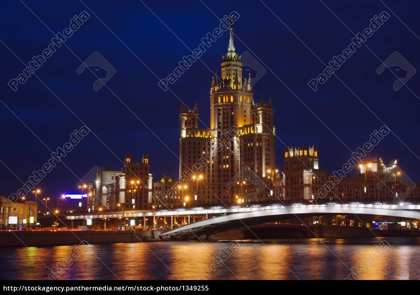 view, across, moscow, river, in, twilight - 1349255