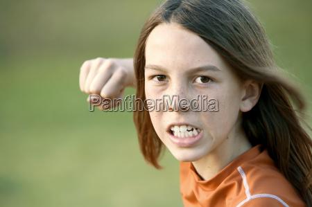 boy, with, long, hair, throws, a - 1350319