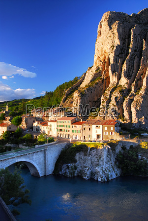 town, of, sisteron, in, provence, france - 1351907