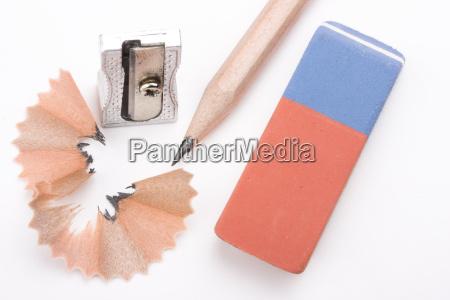 pencils, a, sharpener, and, eraser - 1353451