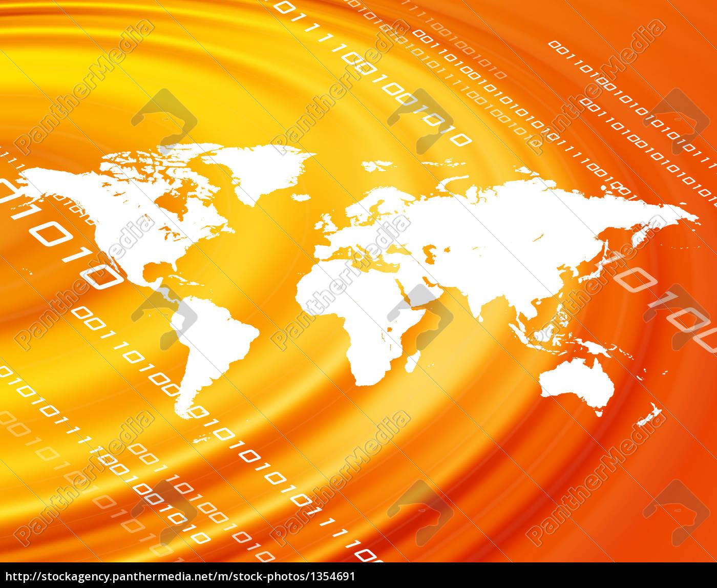 orange, world, map - 1354691