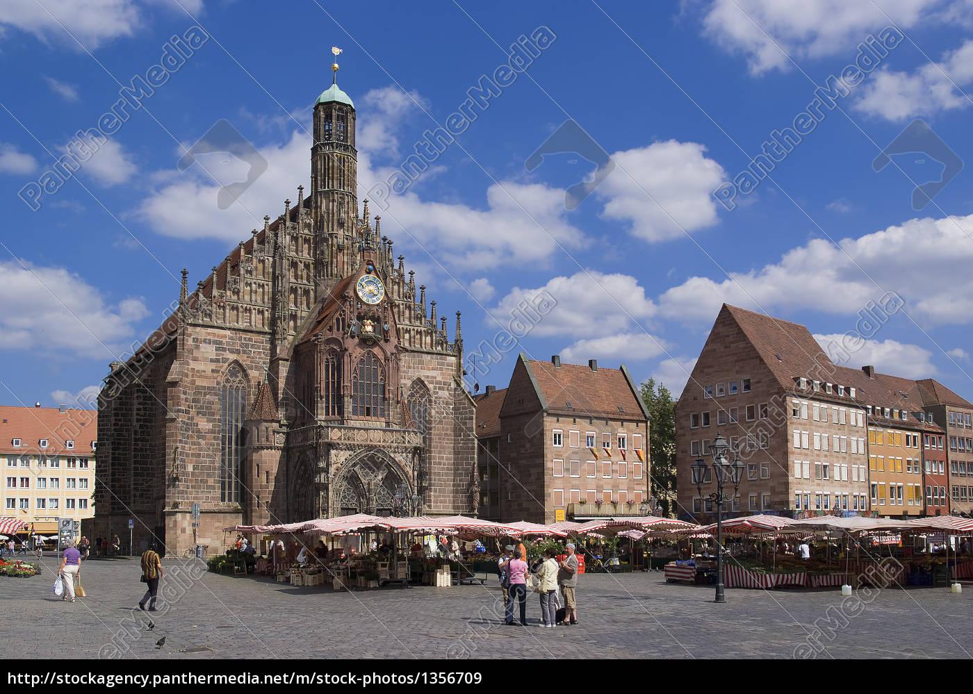 nuremberg, frauenkirche, on, the, main, market - 1356709