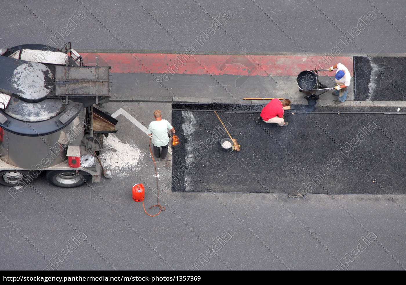 workers, tear, a, street - 1357369