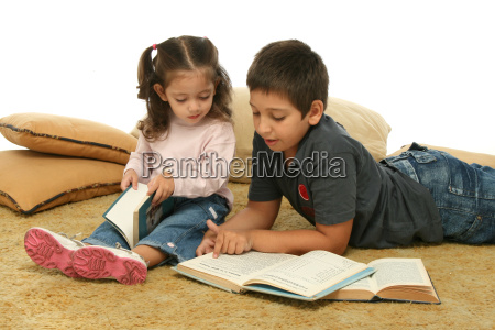 brother, and, sister, reading, books, - 1359651