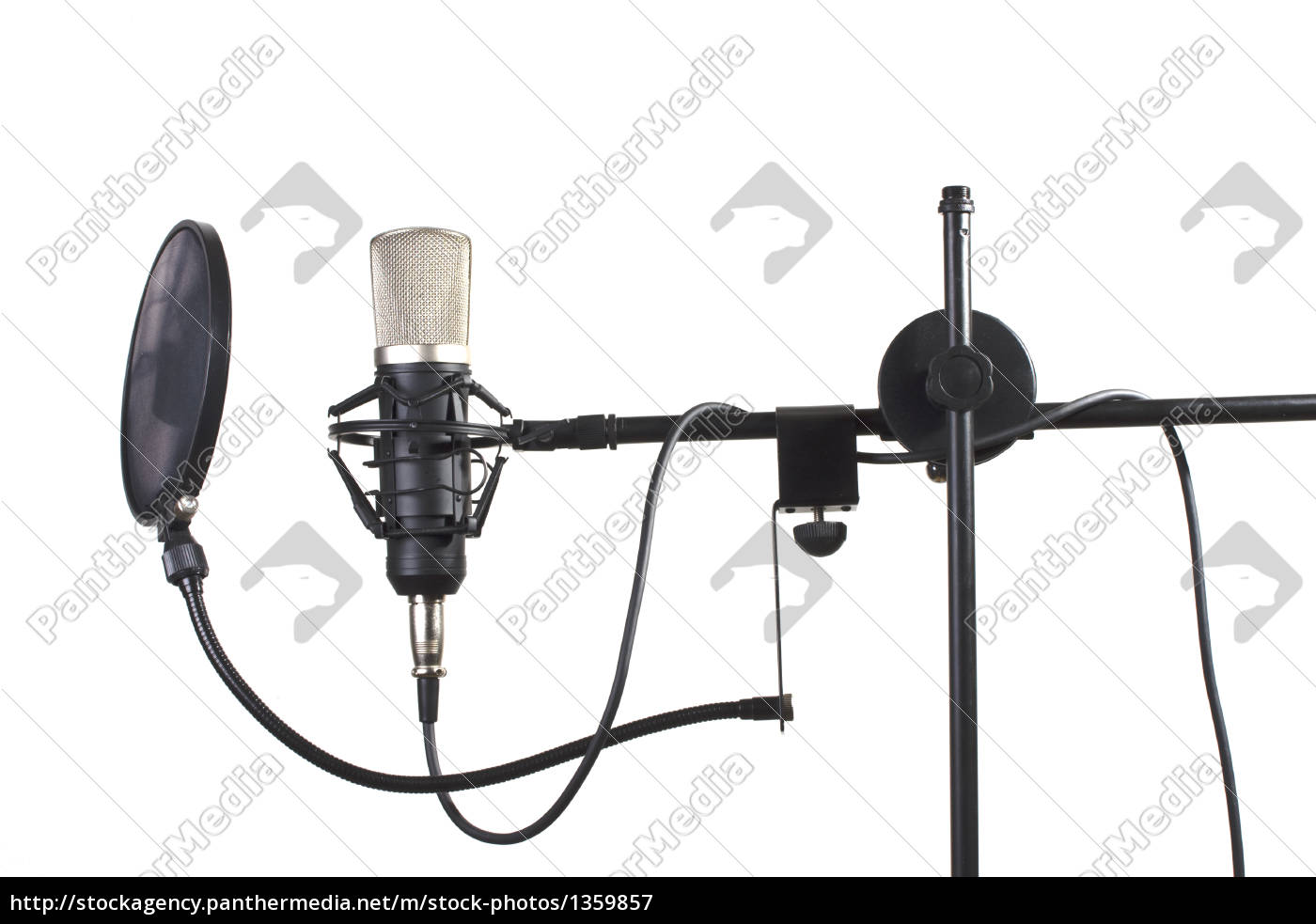 studio, microphone, on, a, stand, on - 1359857