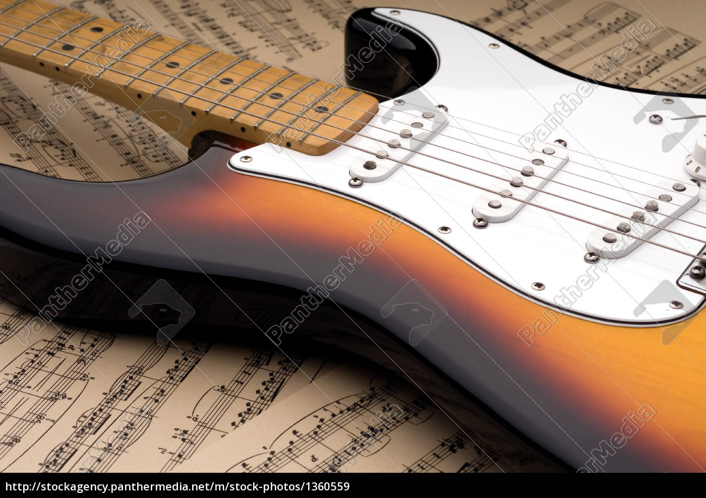 electric, guitar, and, sheet, music - 1360559