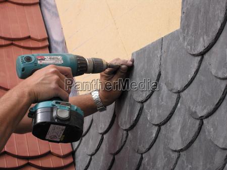 roofing, hands, baufoto - 1360687