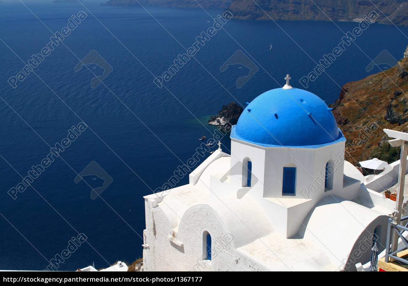 church, on, santorini - 1367177