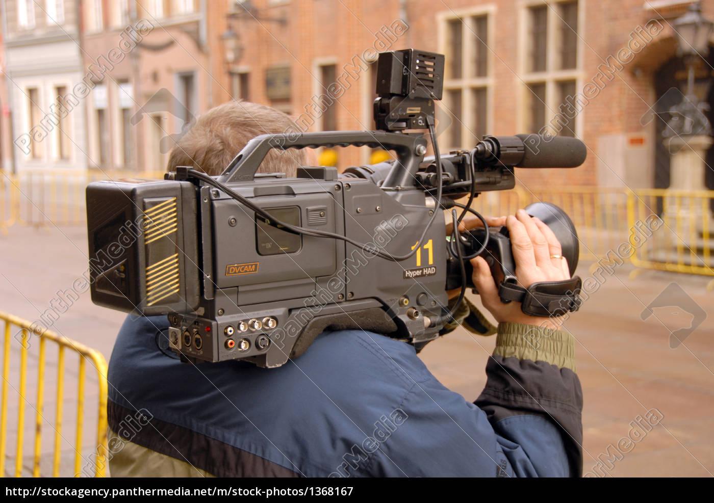 cameraman, in, action - 1368167