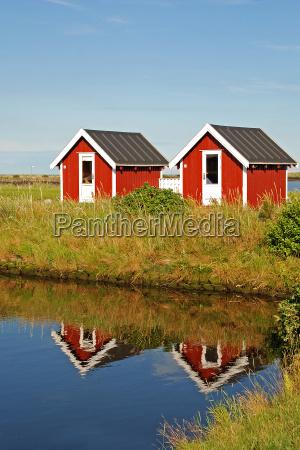 fishing, huts, in, denmark - 1369089