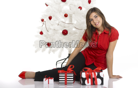 happy, woman, with, chirstmas, gifts - 1371953