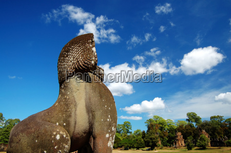 lion, statue, facing, the, prasat, suor - 1374775