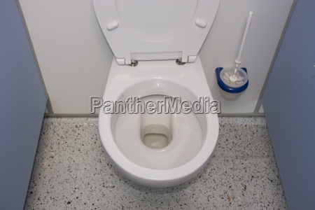 inside a toilet cubicle