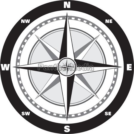 wind, rose, compass - 1391353