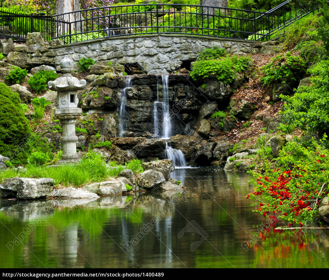 cascading, waterfall, and, pond - 1400489
