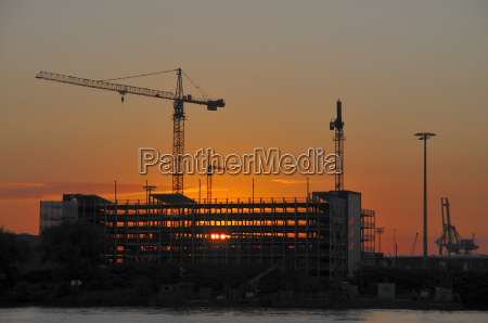 construction, site, in, sunrise - 1402663