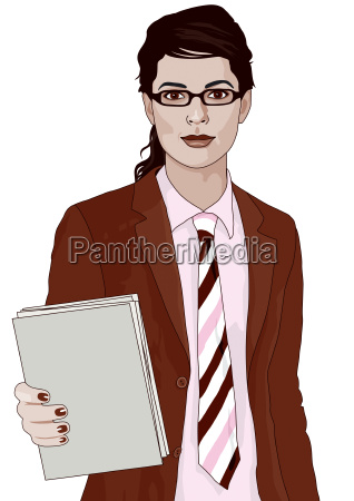 noon 14 businesslady 2 with files