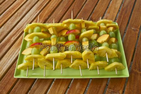 vitamin rich fruit skewer