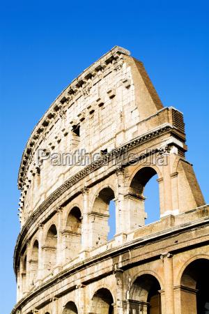 colosseum, rome, blue, sky - 1407455