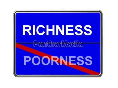 richness poorness