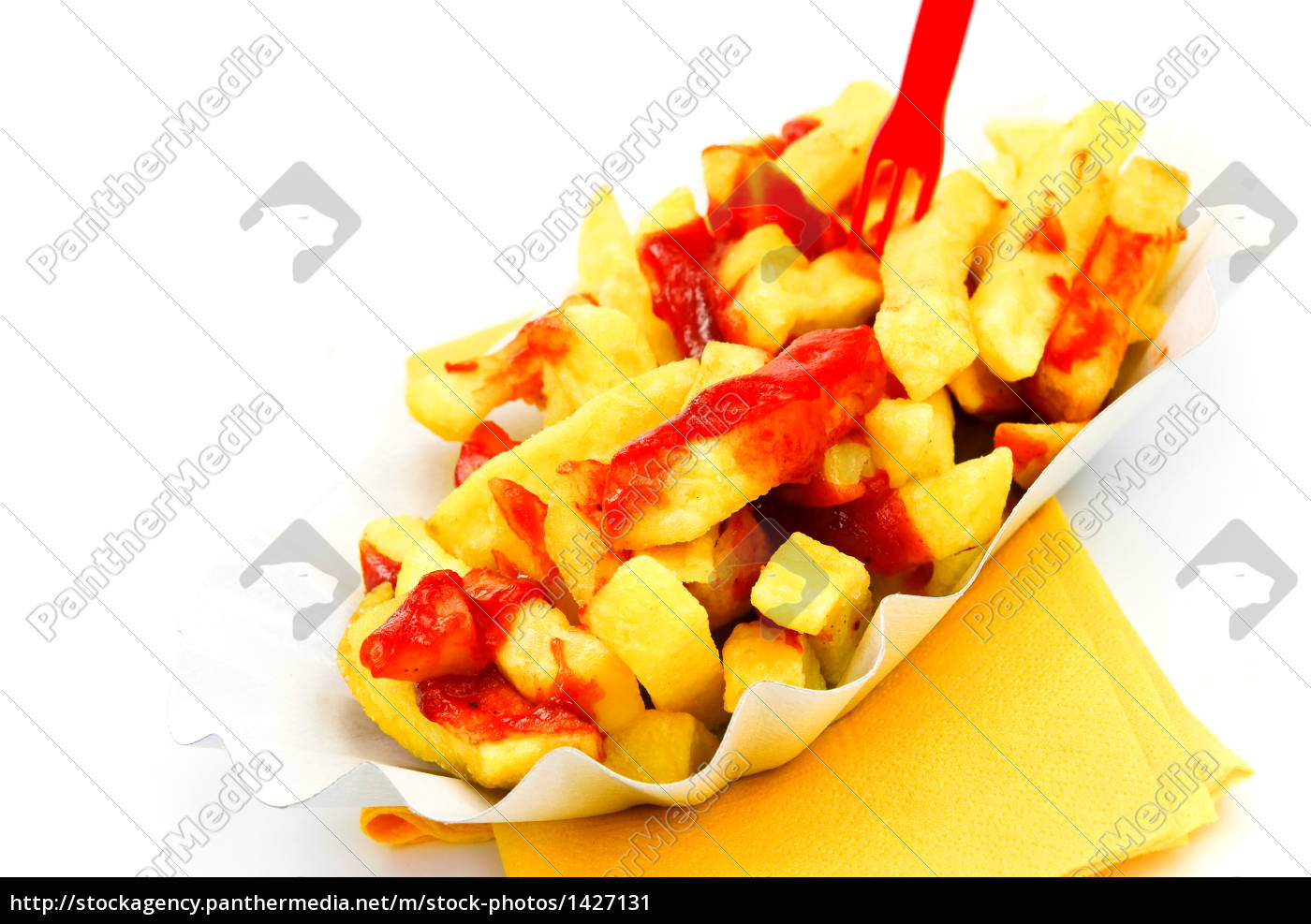 french, fries, with, ketchup, -, on - 1427131