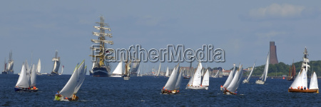 sailing on the kiel fjord