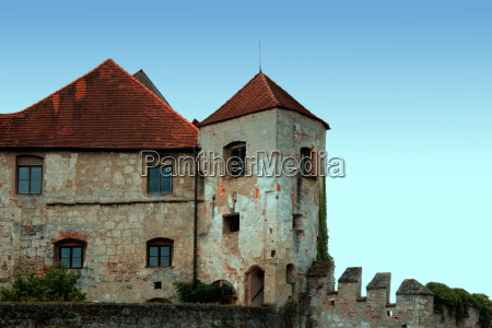 historical hill fortress medieval chateau castle