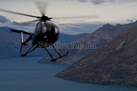 chopper, action, over, queenstown - 1461651