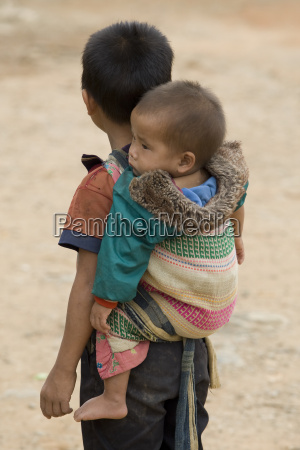 lao, boy, with, baby - 1464755