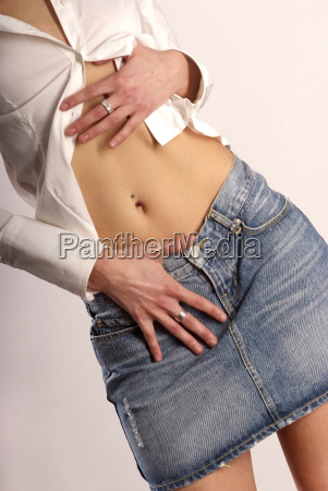 belly, with, piercing - 1468217