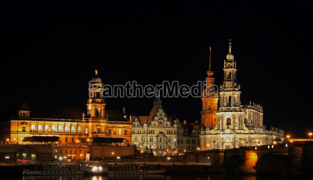 dresden castle with court church