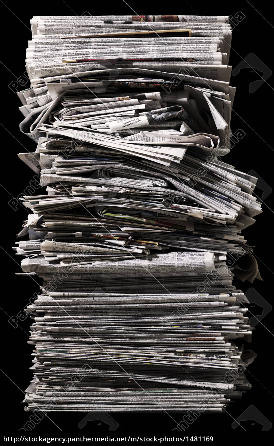 pile, with, old, newspapers - 1481169
