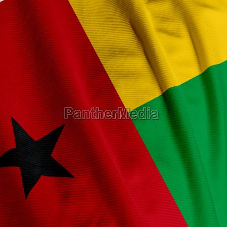 guinea bissau flag closeup
