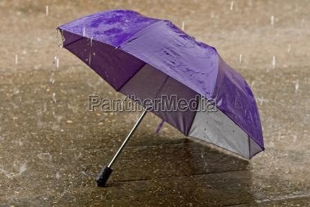 umbrella in heavy rain weather