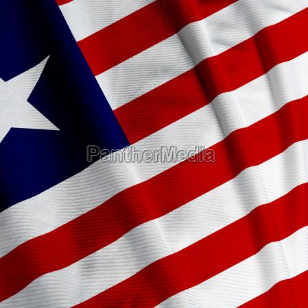 liberian flag closeup