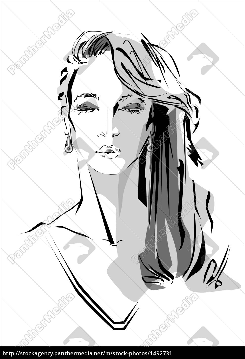 Woman With Closed Eyes Royalty Free Image 1492731