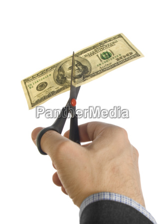 dollar, dollars, hand, isolated, one, scissors - 1494971
