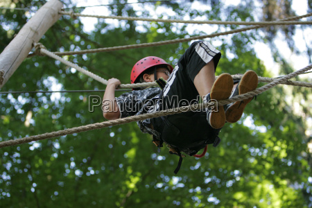 boy in adventure park