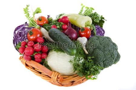 fresh, vegetables, in, basket - 1502463