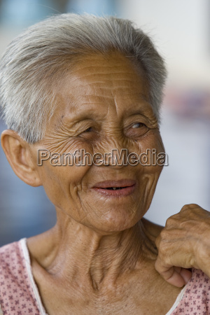 portrait of an old asian woman