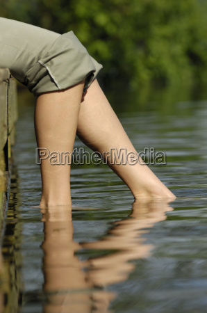 woman's, legs, in, the, water - 1514691