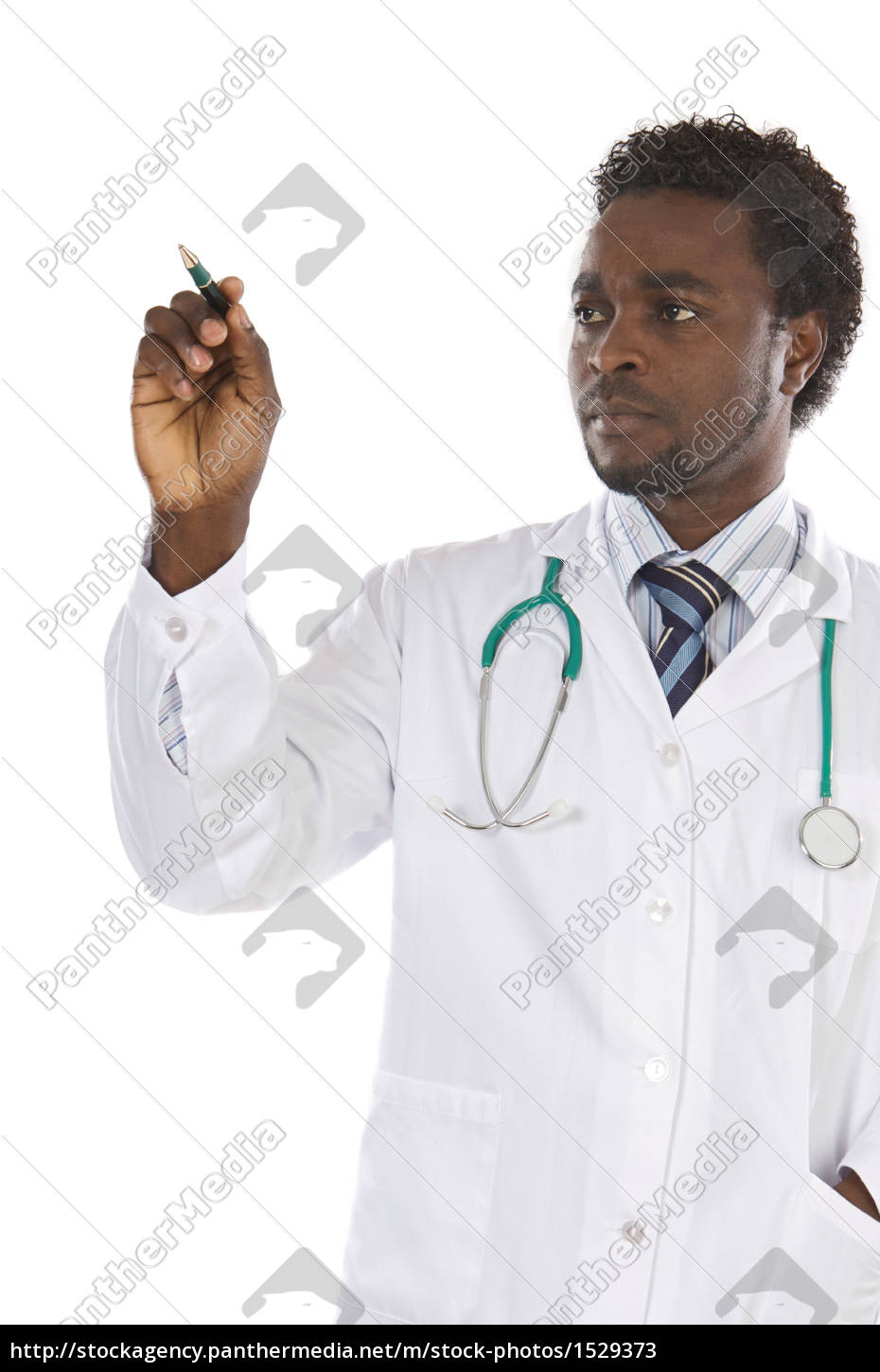 african, american, man, doctor, writing - 1529373